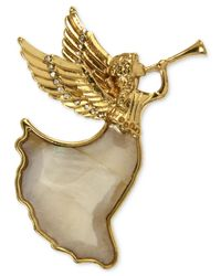 Jones New York - Metallic Gold-tone Herald Angel Boxed Pin - Lyst