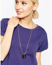 ASOS | Metallic Resin Hexagon Necklace | Lyst