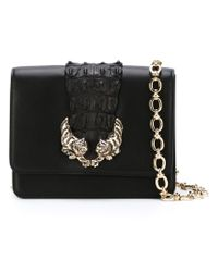 Roberto Cavalli - Black Embellished Tigers Cross Body Bag - Lyst