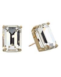 Kate Spade | Green Kate Spade Emerald Cut Stud Earrings | Lyst