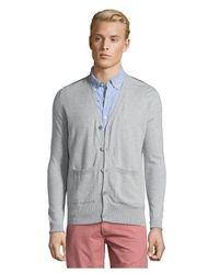 Burberry - Gray Brit Light Grey Cashmere Blend 'edmond' Cardigan for Men - Lyst