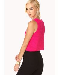 Forever 21 - Purple Boxy Knit Top - Lyst