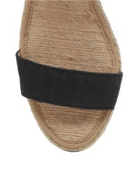 Lucky Brand | Black Kavelli Espadrille Wedge Sandals | Lyst