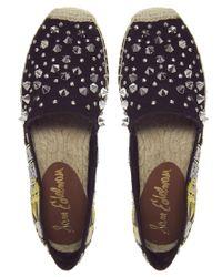 Sam Edelman   Black Linsley Studded Flat Shoe   Lyst
