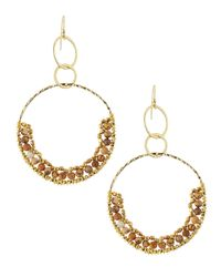 Nakamol | Metallic Double-drop Circle Beaded Earrings | Lyst