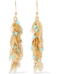 Rosantica - Metallic Filigrane Gold-plated Turquoise Earrings - Lyst