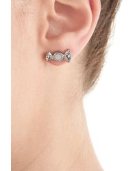 Marc By Marc Jacobs | White Bonbon Earrings - Silver | Lyst