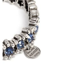 Philippe Audibert | Blue New Amelia Bead And Crystal Embellished Elasticated Bracelet | Lyst