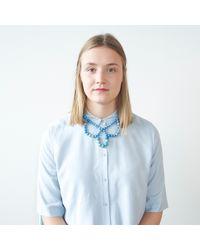 Hring Eftir Hring | Blue Ballerina Necklace Forget Me Not | Lyst
