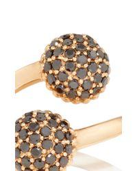 Sara Weinstock - Metallic Rose Gold Black Diamond Bypass Paba Ring - Lyst