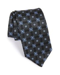 JZ Richards | Black Geometric Medallion Woven Silk Tie for Men | Lyst