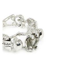 Alexander McQueen | Metallic Skeleton Crystal Ring | Lyst