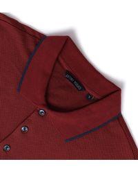 Antony Morato - Scarlet Red Micro-dot Short Sleeve Polo Shirt for Men - Lyst