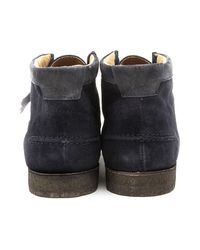 Hush Puppies - Blue Davenport High Navy Suede Chukka Boots for Men - Lyst