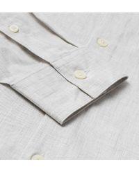 Lyle & Scott - Gray Light Grey Poplin Slim Fit Shirt for Men - Lyst