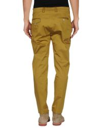 Paolo Pecora - Natural Casual Pants for Men - Lyst