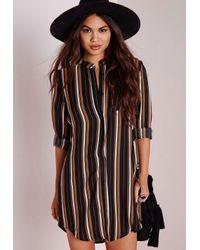 Striped Brown Dress