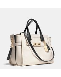 COACH | Natural Swagger 37 In Colorblock Leather | Lyst