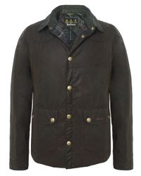 Barbour | Green Reelin Wax Jacket for Men | Lyst