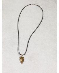 John Varvatos | Metallic Leather & Bronze Arrowhead Necklace for Men | Lyst