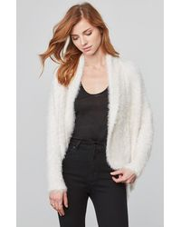 BB Dakota - White Sheryl Fuzzy Knit Cocoon Sweater - Lyst