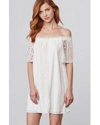 8f6dc290fc54e Lyst - BB Dakota Cece Lace Off The Shoulder Dress in White