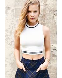 BDG | White Dion Cropped Top | Lyst