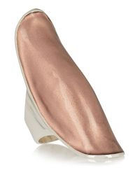 Iam By Ileana Makri - Pink Silver And Rose-Gold Enamel Ring - Lyst