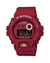 G-Shock - Red Xl Print Resin Digital Watch for Men - Lyst