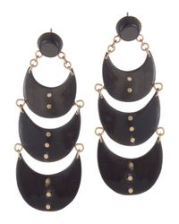 Ashley Pittman | Metallic 3-tier Bronze Earrings | Lyst