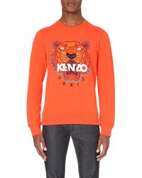KENZO | Orange Tiger Cotton-jersey Sweatshirt for Men | Lyst