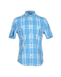 Burberry Brit - Blue Shirt for Men - Lyst