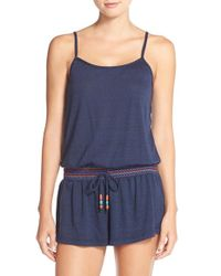Lucky Brand - Blue Cover-up Romper - Lyst