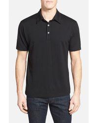 Ibex | Black 'vt' Regular Fit Merino Wool Polo for Men | Lyst