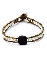 Ziio - White Beaded Bracelet - Lyst