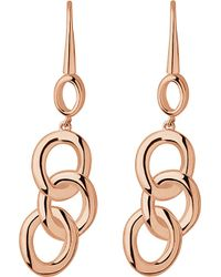 Links of London - Metallic Signature 18ct Rose-gold Plated Drop Earrings - Lyst