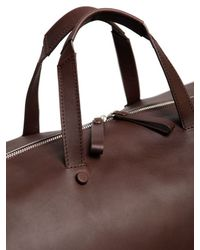 Bonastre - Brown Vegetable Tanned Leather Duffle Bag for Men - Lyst