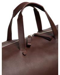 Bonastre | Brown Vegetable Tanned Leather Duffle Bag for Men | Lyst