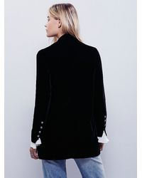 Free People - Black Yesterday's Muse Velvet Jacket - Lyst