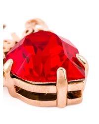 Mawi   Red 'rubies' Slogan Earrings   Lyst