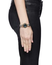 Lulu Frost | Metallic 'nicandra' Glass Crystal Arched Chain Bracelet | Lyst