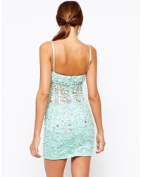 Forever Unique - Green Rococo Heavily Embellished Mini Dress - Lyst