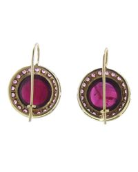 Andrea Fohrman - Purple Kat Round Tourmaline Earring - Lyst