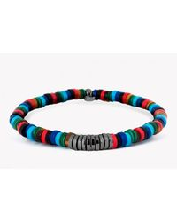 Tateossian | Multicolor Multi-bamboo Gunmetal Plated Silver Discs Bracelet | Lyst