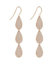 Irene Neuwirth | Metallic Three-drop Earrings | Lyst