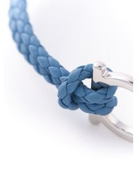 Ferragamo - Blue Woven Gancio Bracelet for Men - Lyst