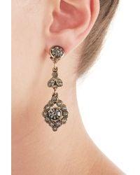Alberta Ferretti | Metallic Embellished Chandelier Earrings - Blue | Lyst