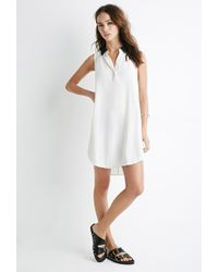 Forever 21 - Natural Contrast Collar Popover Dress You've Been Added To The Waitlist - Lyst