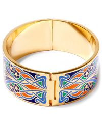 Liberty - Orange Ianthe Multicolour Thick Cuff - Lyst