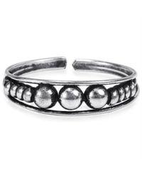 Aeravida - Metallic Triple Balls Hilltribe .925 Silver Toe Ring Or Pinky Ring - Lyst